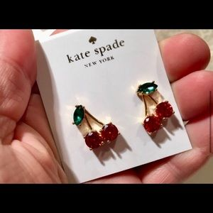 Kate Spade Crystal Cherry 🍒 Earrings